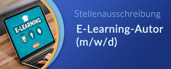 Stellenausschreibung E-Learning-Autor (m/w/d)*