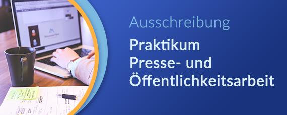 Ausschreibung Praktikumsplatz Presse- und Öffentlichkeitsarbeit