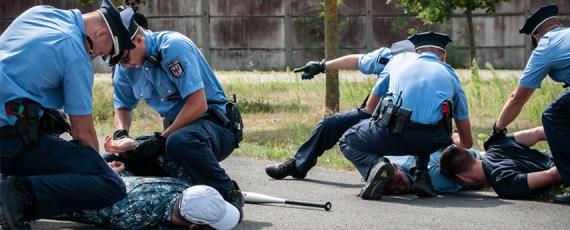 Festnahme von Veranstaltungsstörern wurde auch geübt