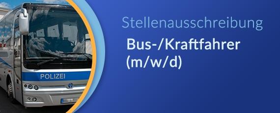 Stellenausschreibung Bus-/Kraftfahrer