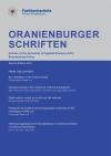 Cover Oranienburger Schriften Sonderausgabe 2013