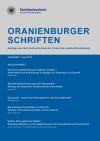 Cover Oranienburger Schriften 1/2013