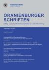 Cover Oranienburger Schriften 1/2015