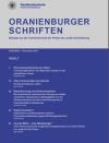 Cover Oranienburger Schriften Nr. 1/2017