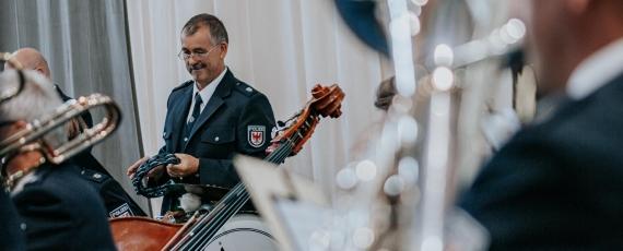 Das Landespolizeiorchester sorgte für das musikalische Rahmenprogramm.